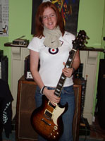 electric guitar student Bex