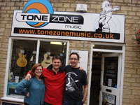 Simon with Ade and Barbara from  Tonezone Music Cirencester